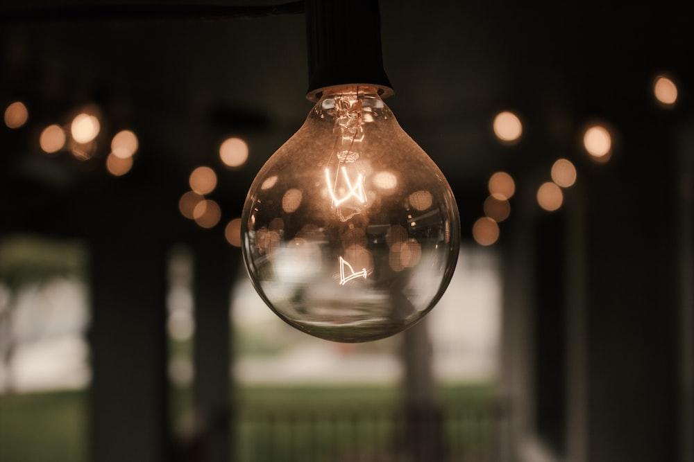 light bulb turned on