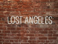 lost Angeles text on wall