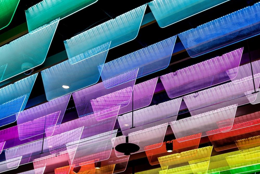 assorted-color ceiling decor lot