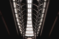 low angle photography of building's ceiling