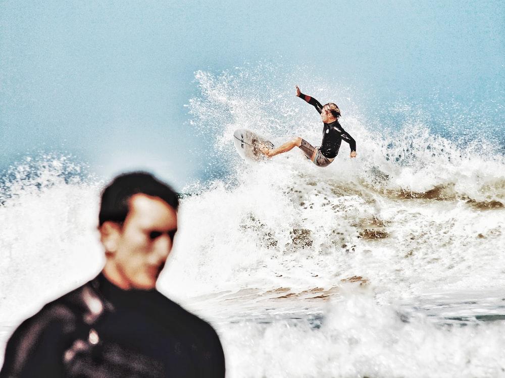 surfing man