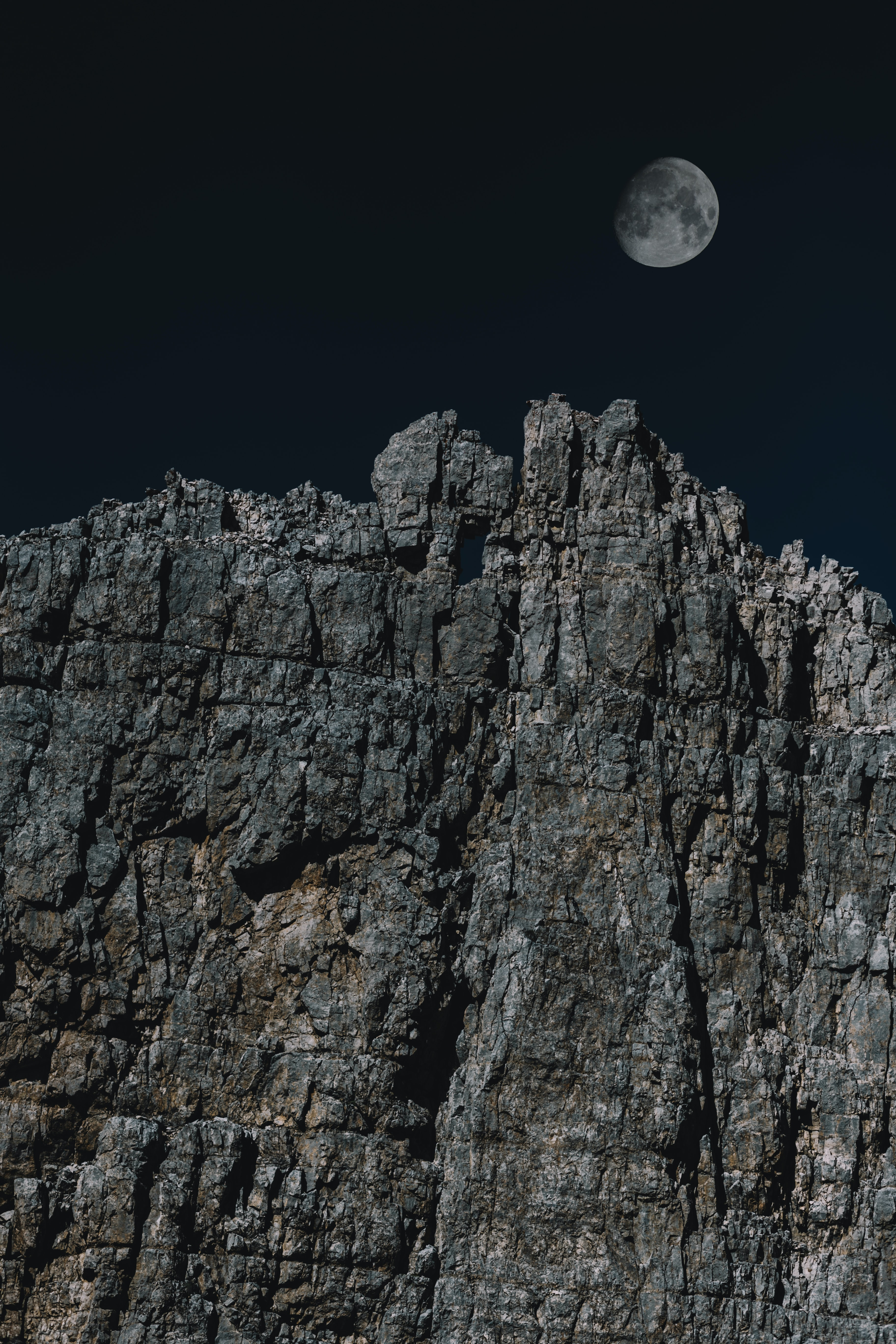 cliff over moon