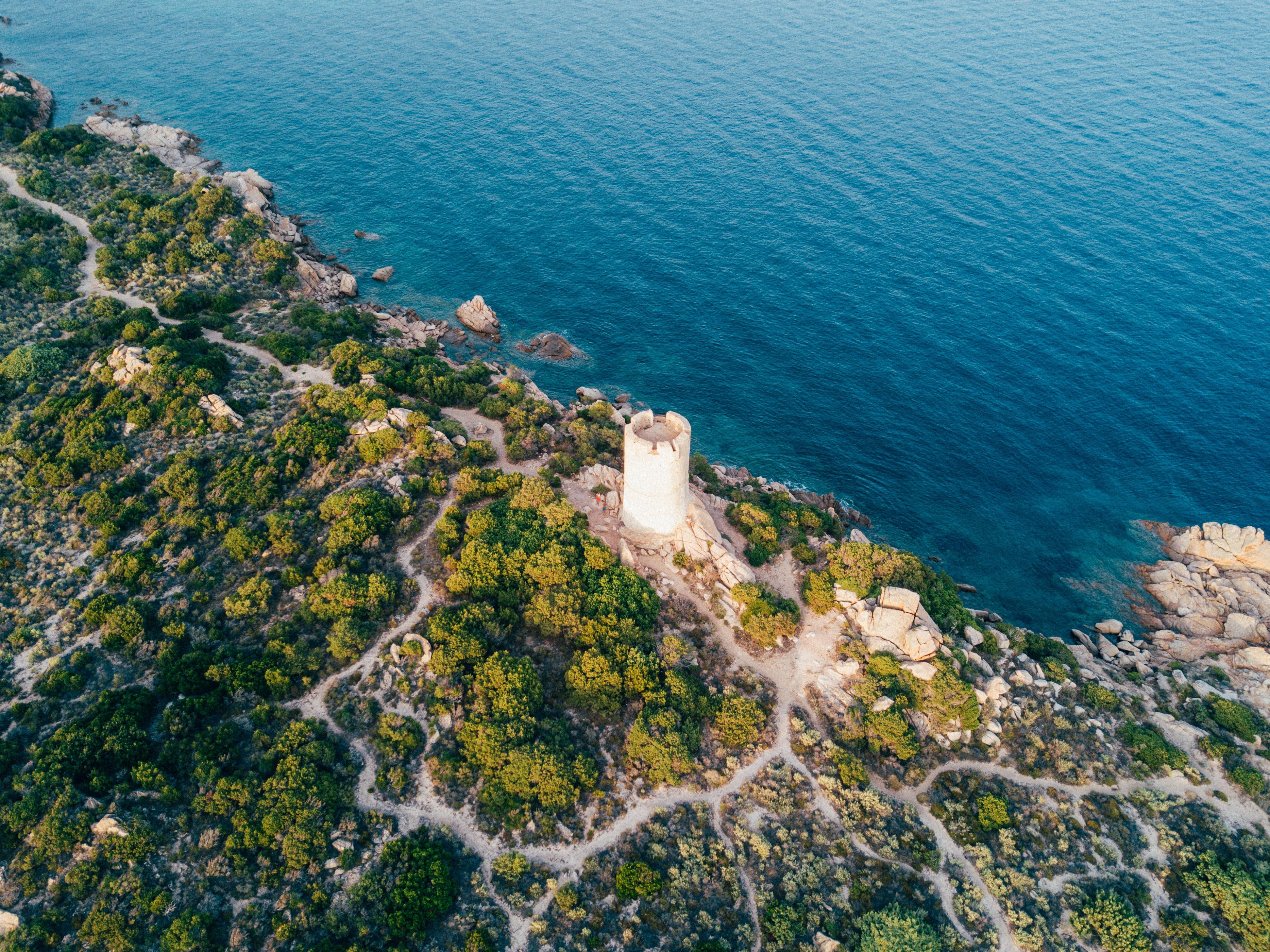 white tower near seashore