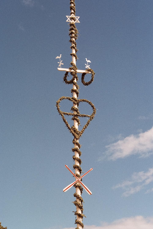 white steel pole
