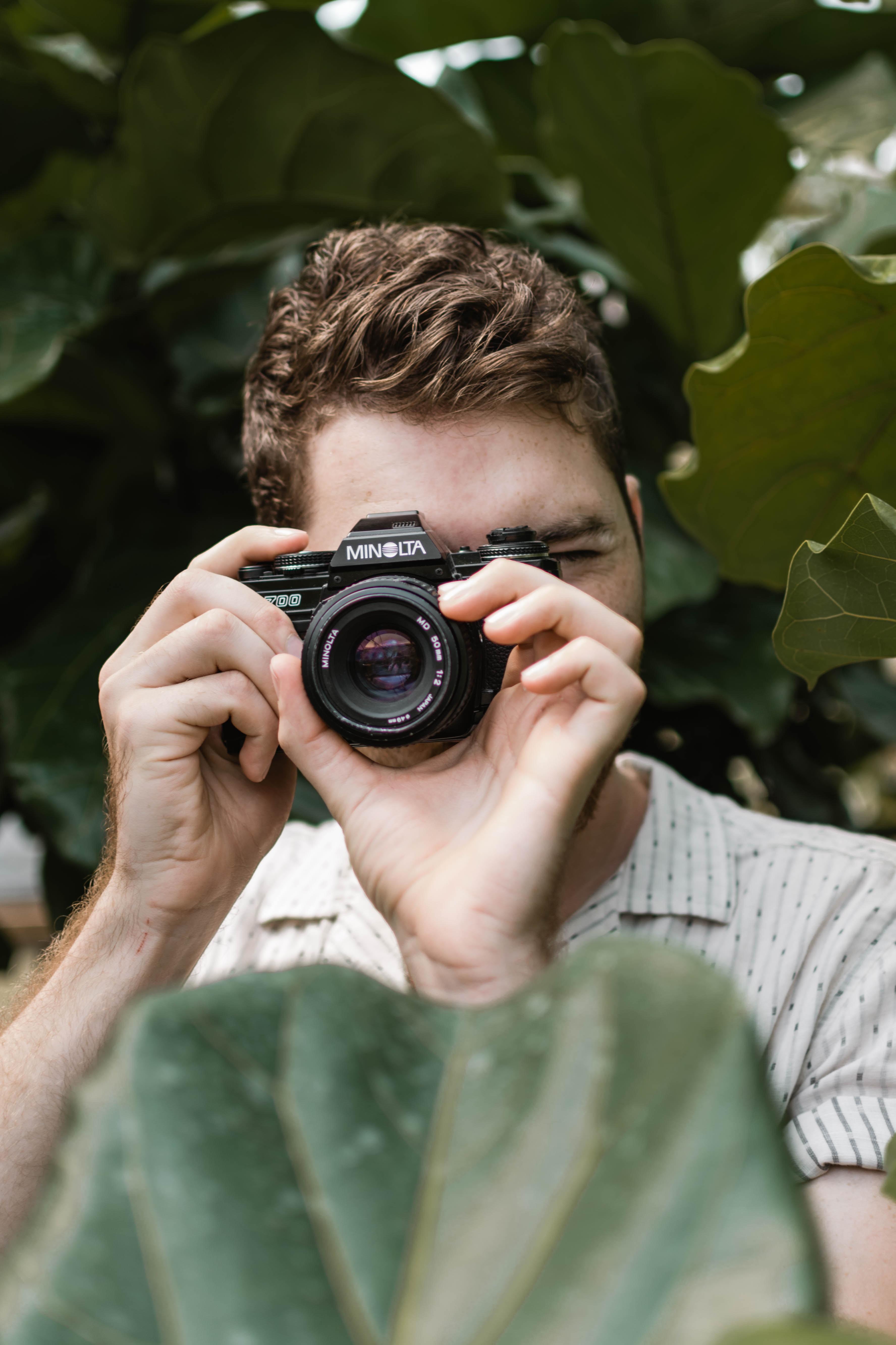 portrait photography of man