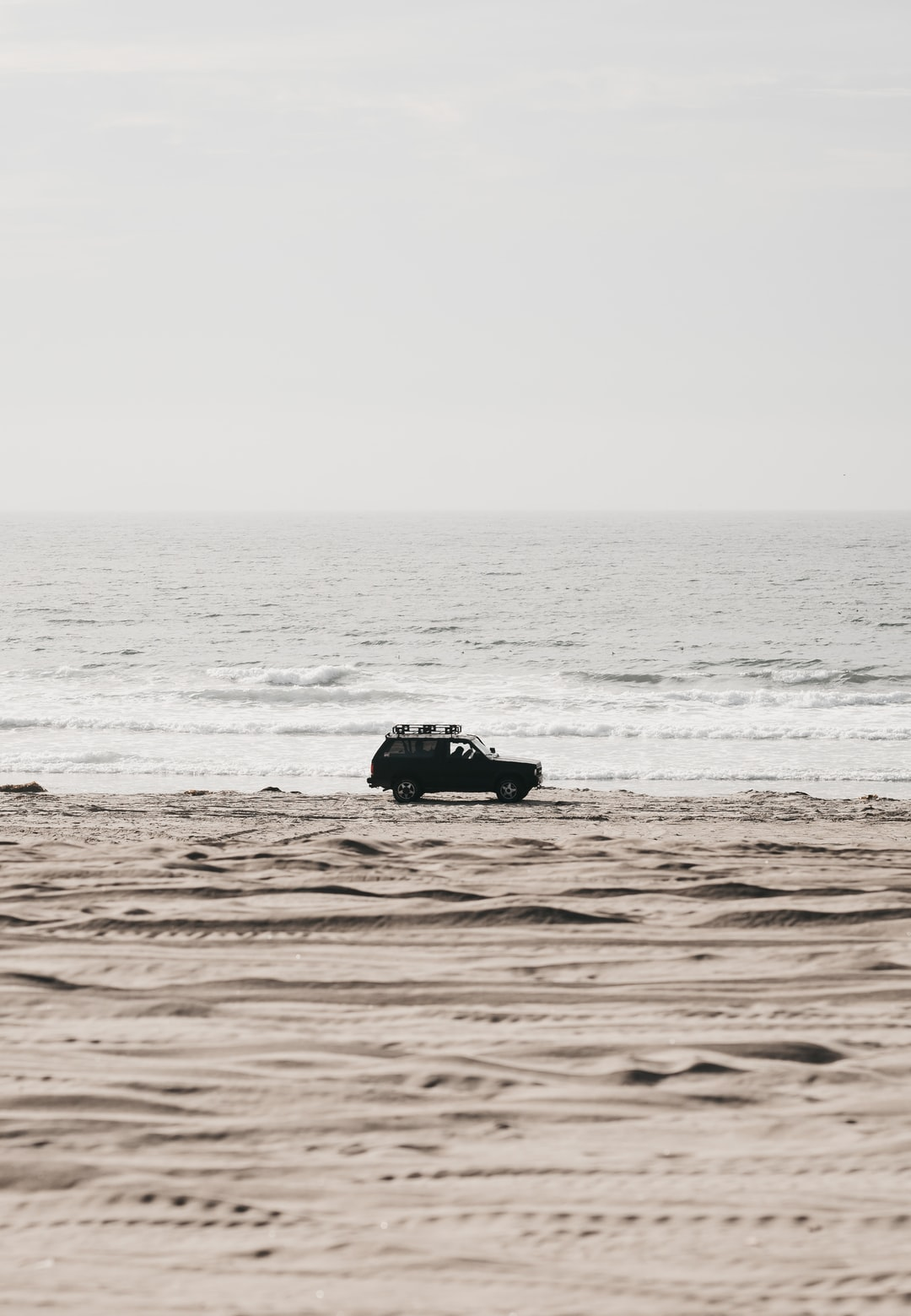 It was the day before the Baja 1000 which my brother had decided to race on a whim last year. We were finishing some final tune ups on his quad and headed down to a track by the beach to do some final testing and to shoot some photos. He took a quick pass down the shoreline and then this vehicle slowly cruised into the frame. Not even sure if someone is driving? Take a look for yourself.