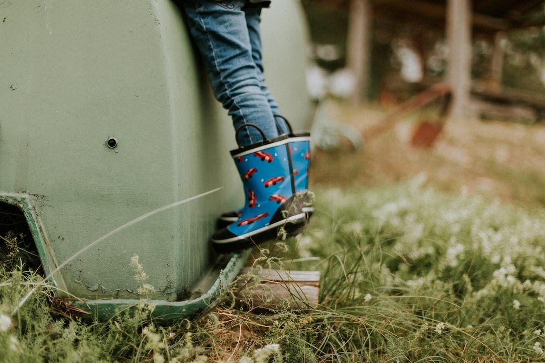 Person Wearing Rain Boots - unsplash