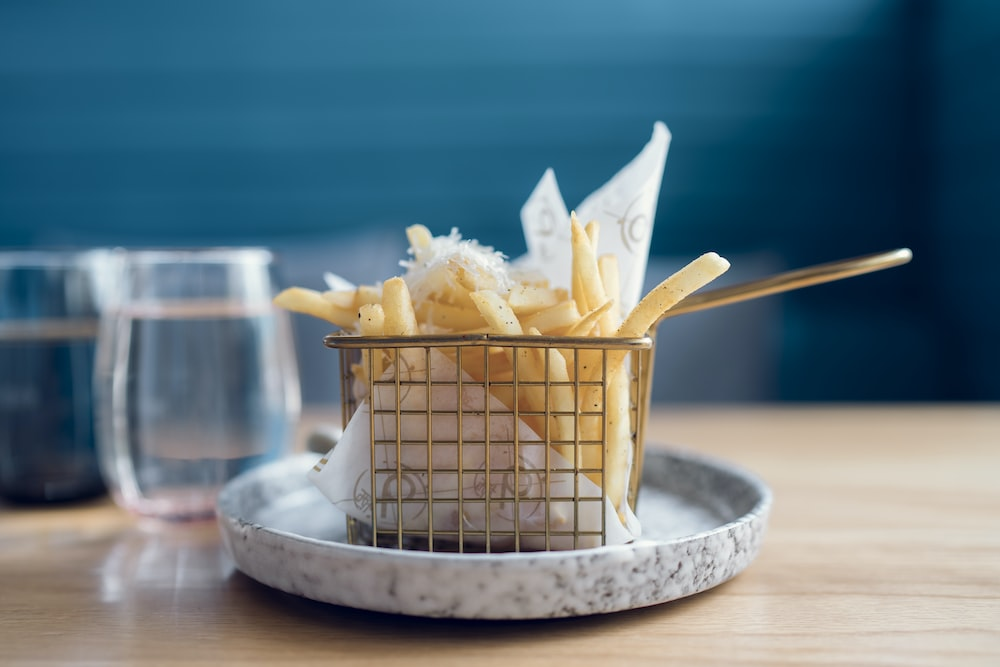 French fries in fry basket