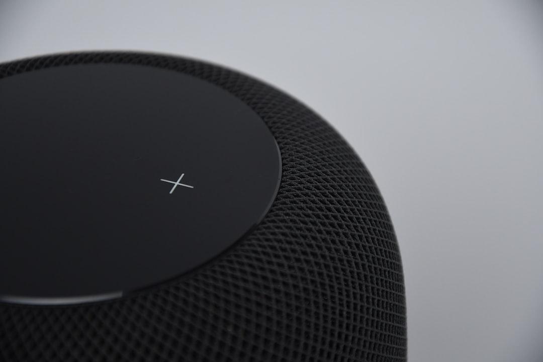 black portable speaker