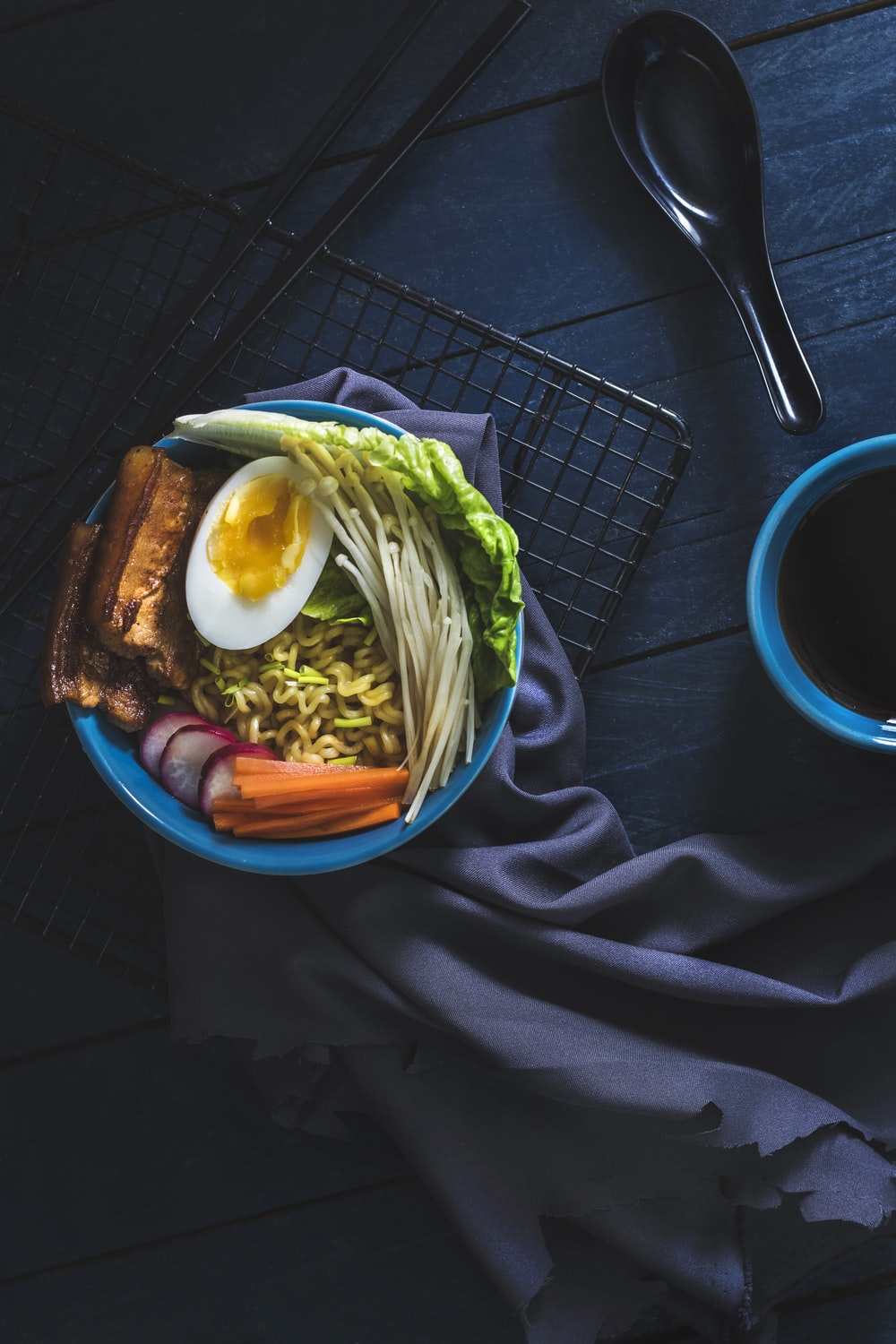 Japanese food pictures download free images on unsplash flat lay photography of ramen beside black spoon forumfinder Images