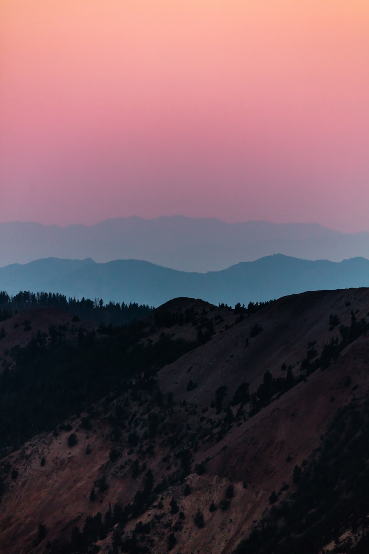 mountain peak under golden hour photography