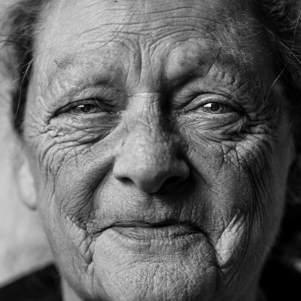grayscale picture of person's portrait