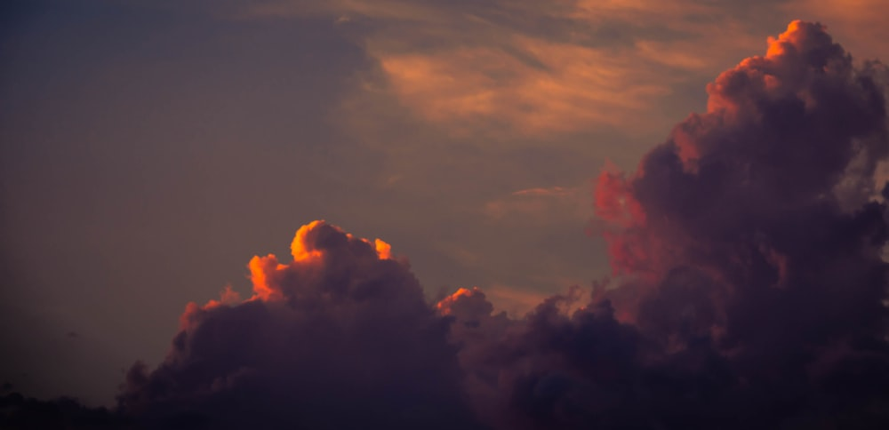 orange and gray cloudy sky during golden hour