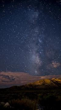 brown mountain during night time