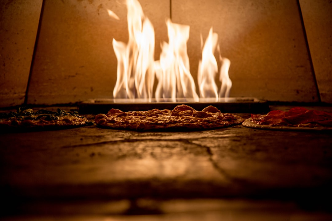 A local downtown restaurant cooks their pizzas in this super hot pizza over…yummy!