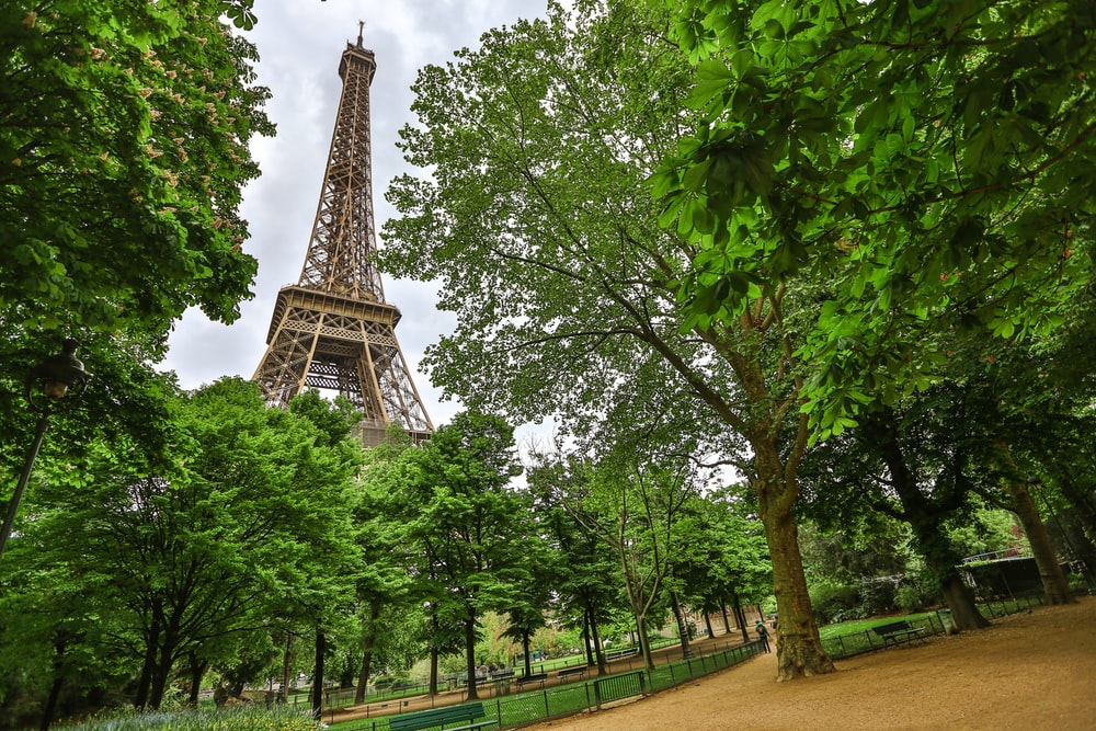 low-angle photo of Eiffel tower during daytime