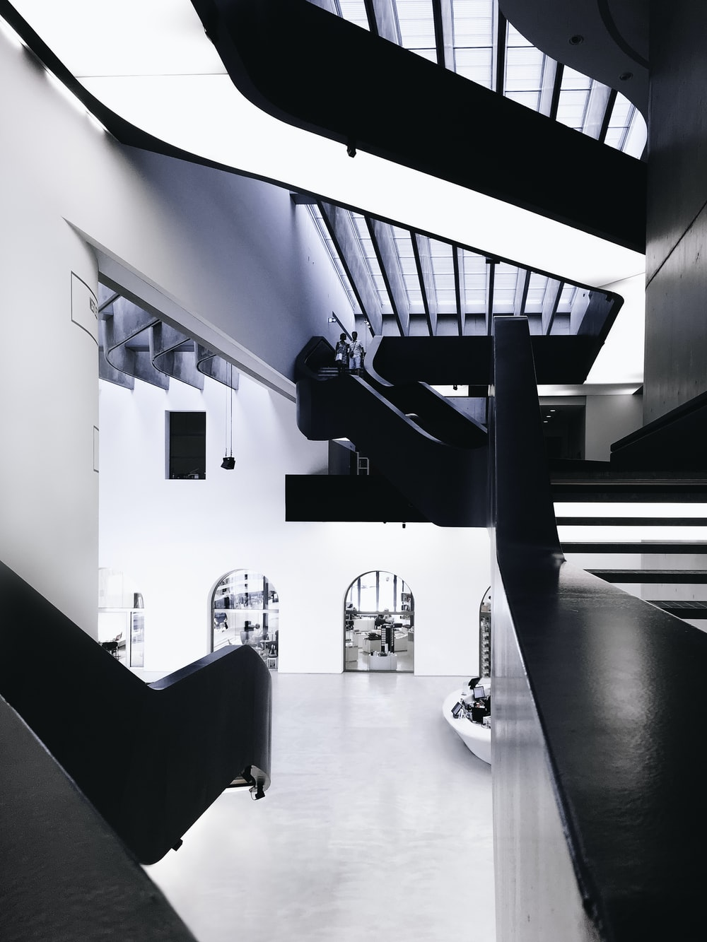 architectural photography of 2-storey building