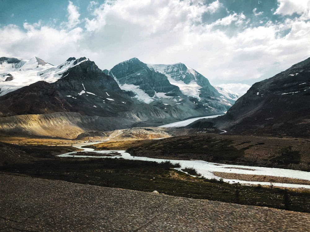 photo of snow-capped mountains