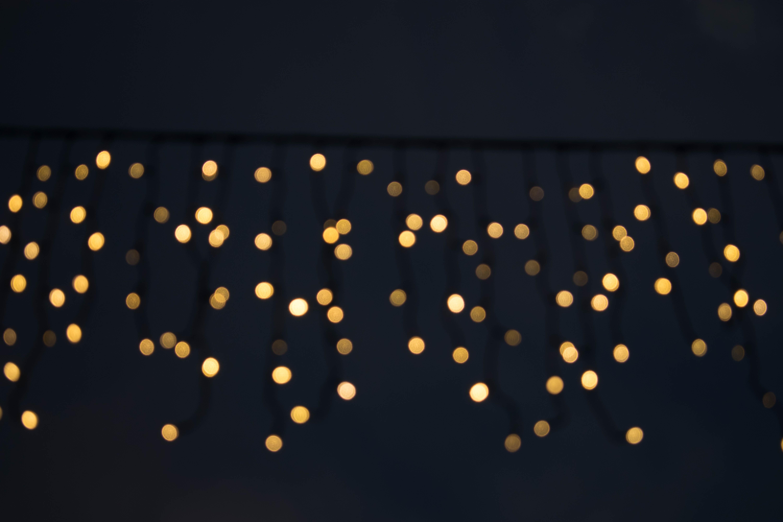 bokeh photography of lights at night