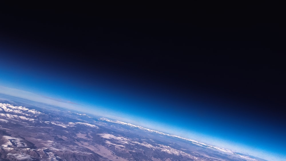 outer space photography of earth