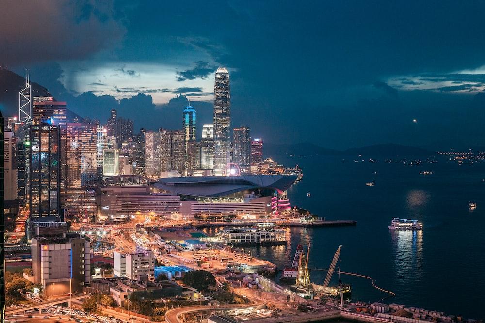 Hong Kong city during nighttime
