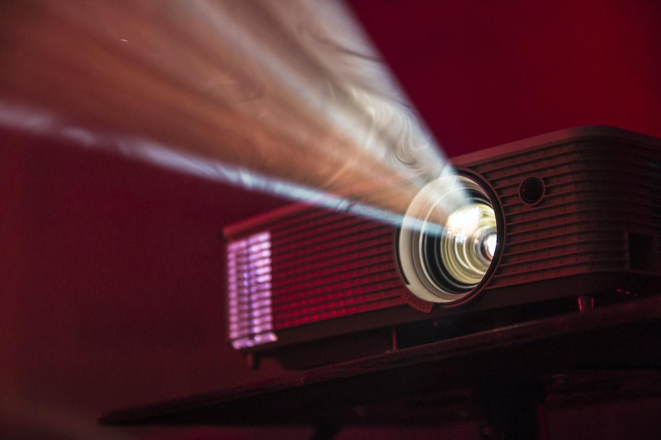 Detail světla z projektoru