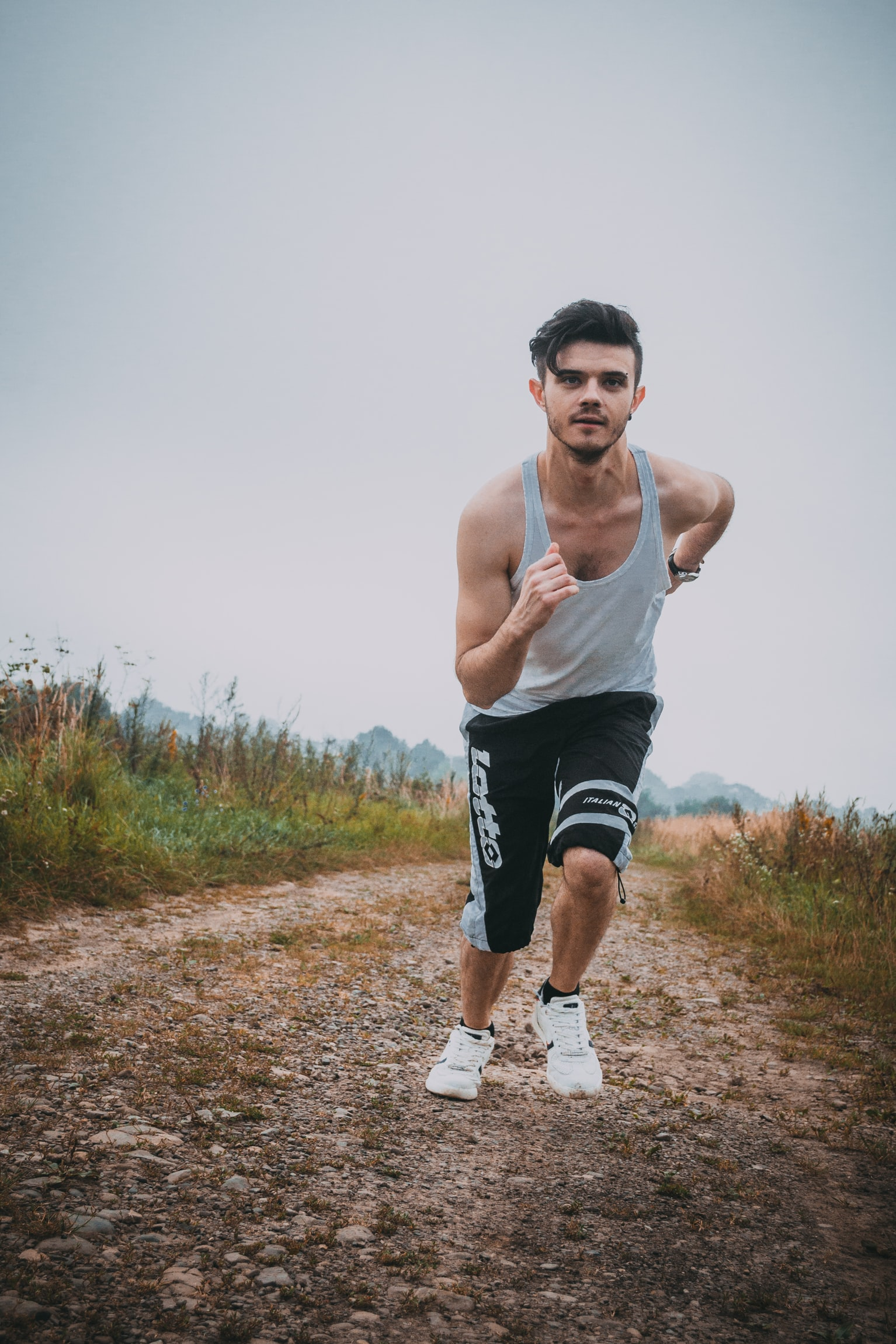 man running wearing one of the best running shorts