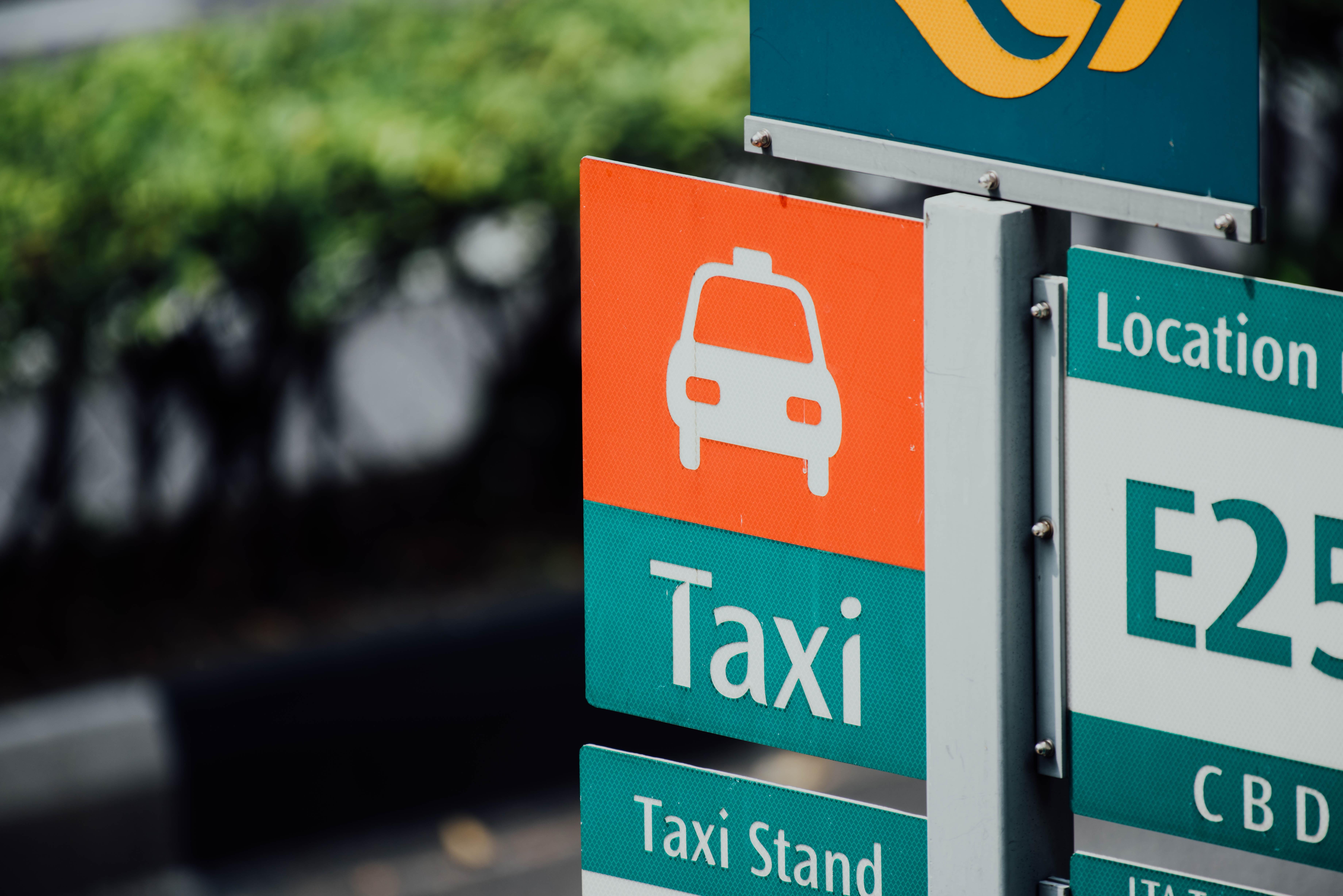 taxi road signage