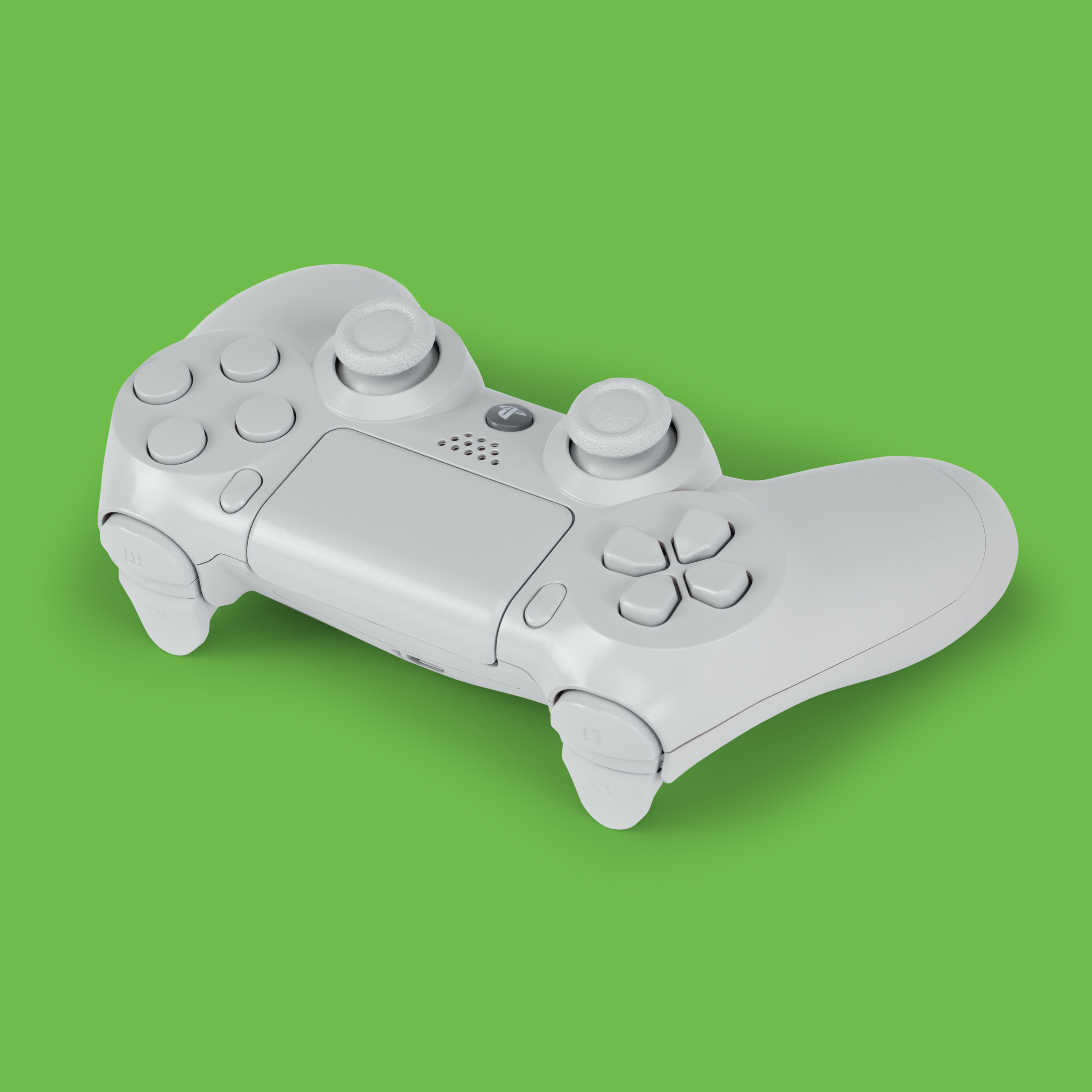 white Sony PS4 controller