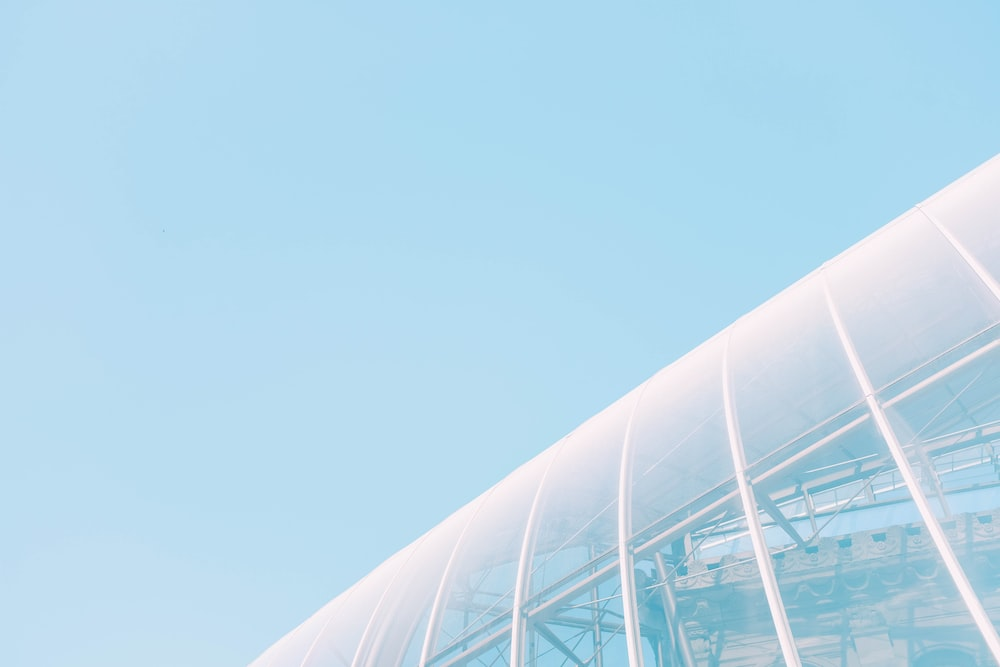 low-angle photography of glass dome building