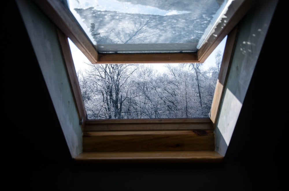 open window glass