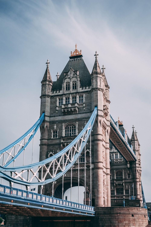 person showing London bridge