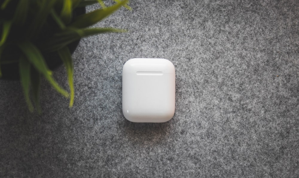 white plastic container on table