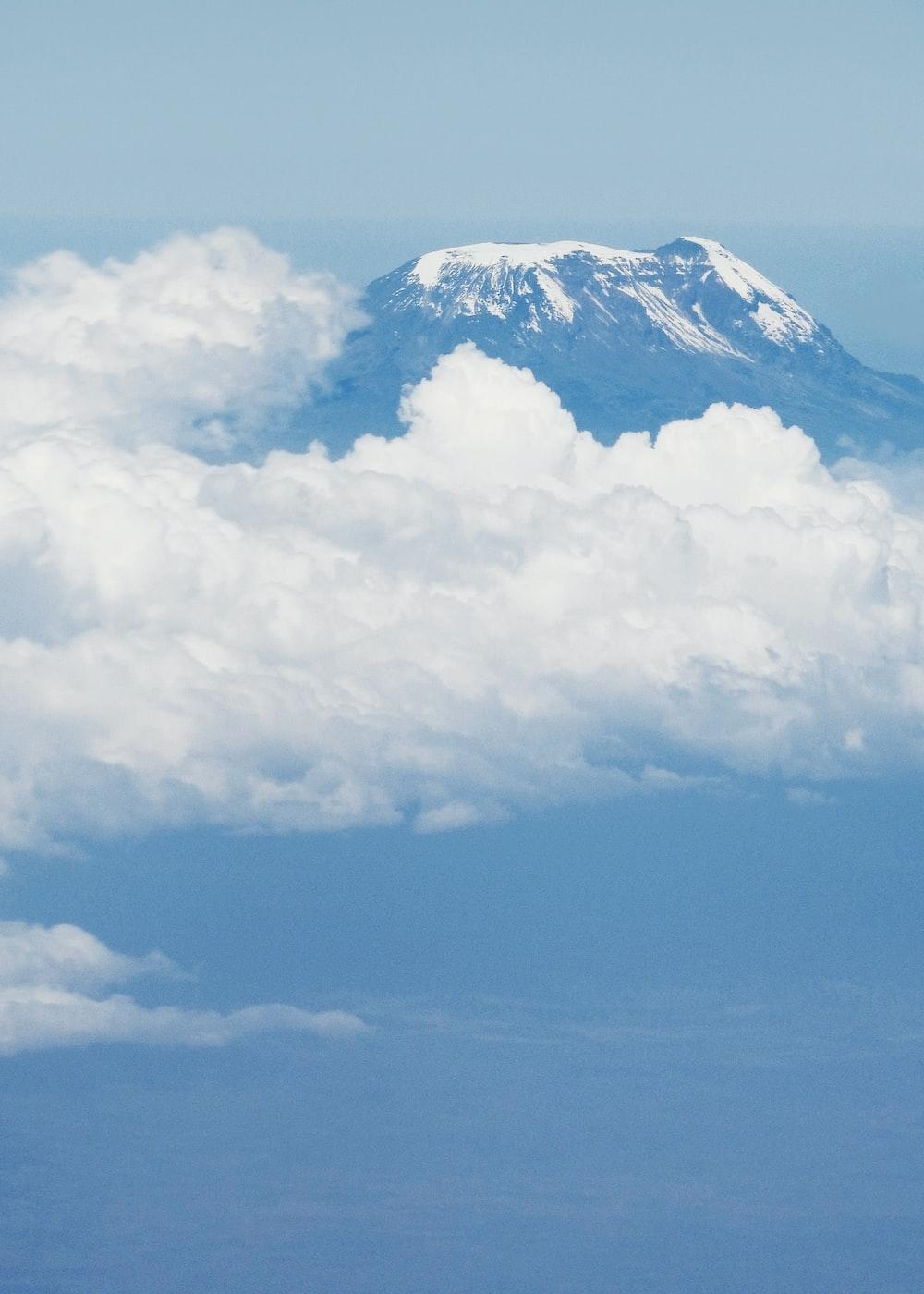 landscape photography of summit