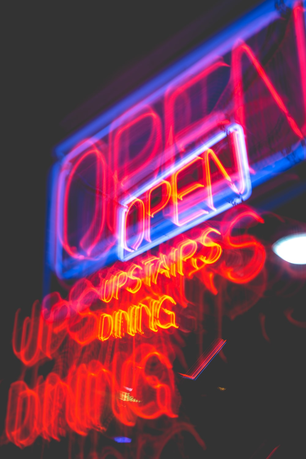 photo of LED neon open signboard