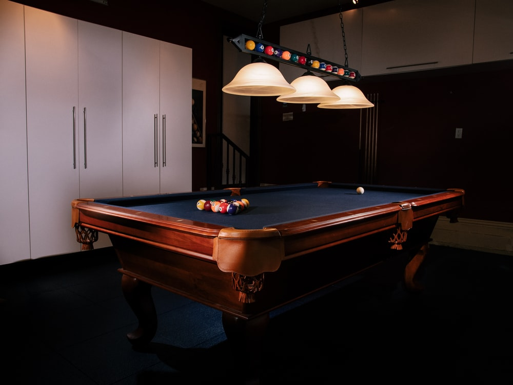 billiard ball on table