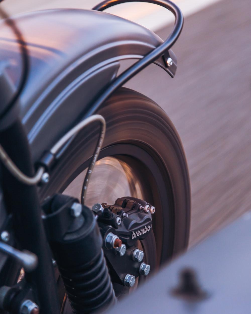 running black motorcycle TWO WHEELER SAFETY
