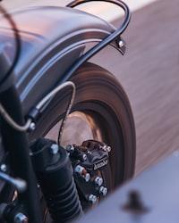 running black motorcycle