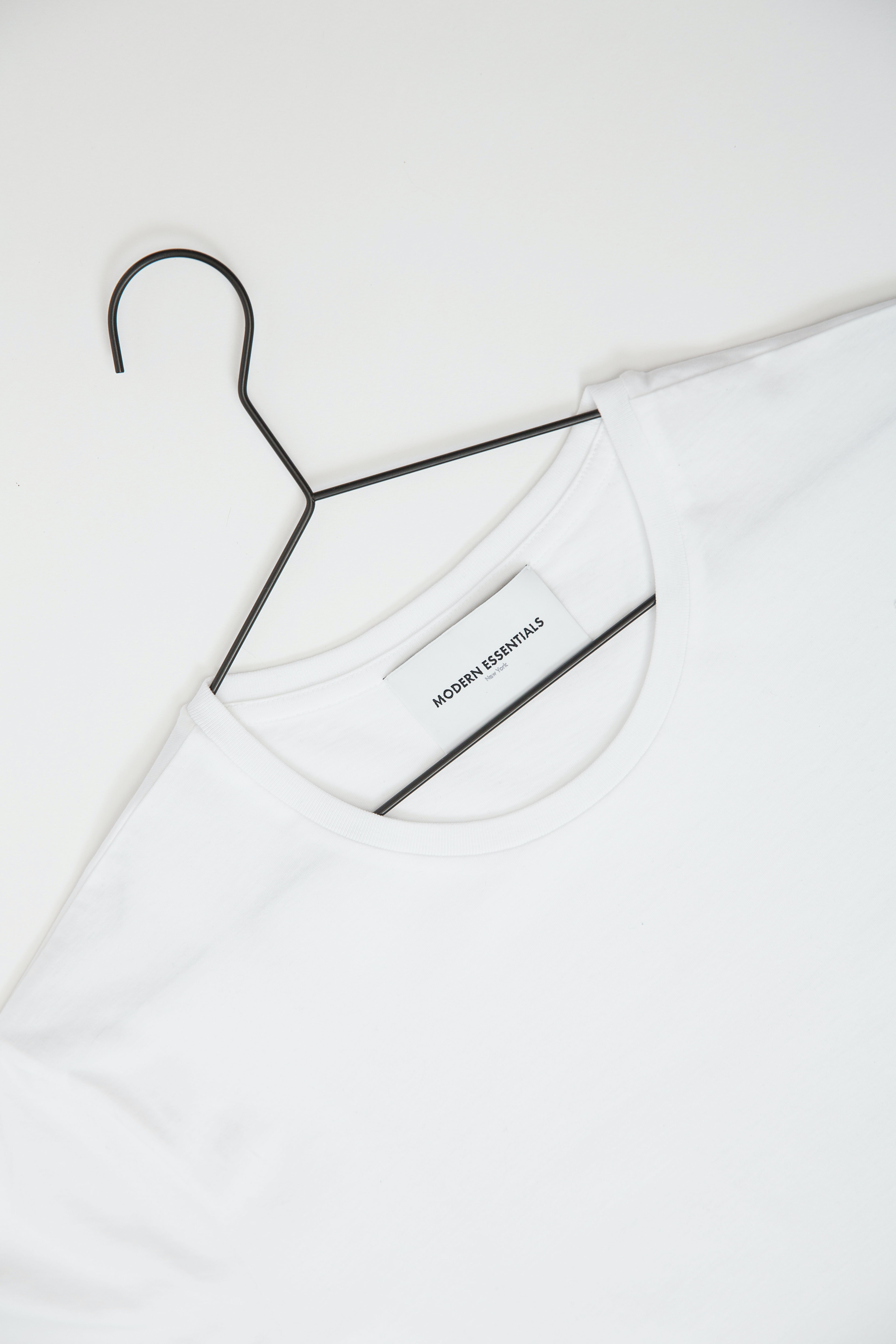 white Modern Essentials crew-neck shirt