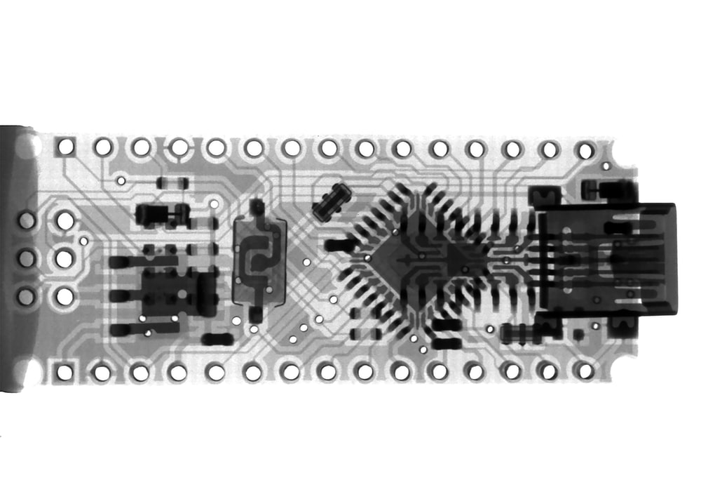 rectangular gray and black board