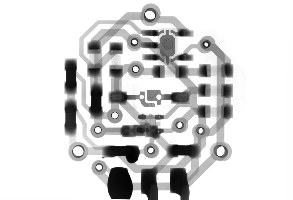 gray and back circuit illustration