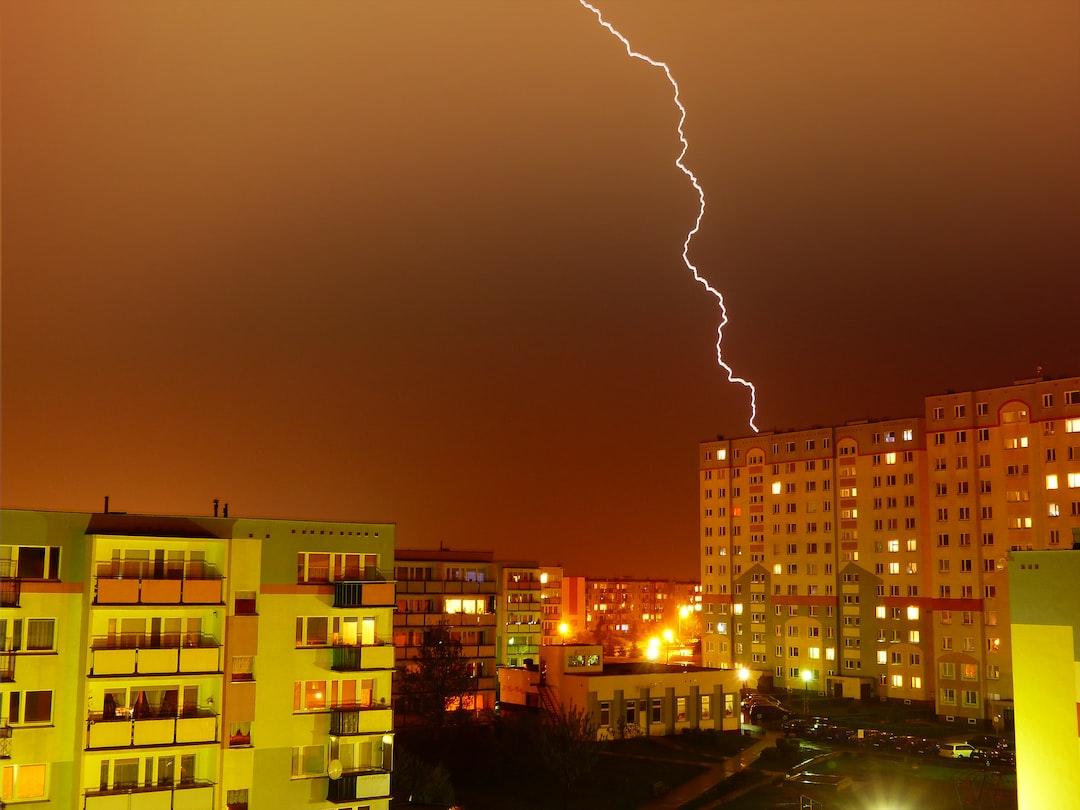 Burza z piorunami w Grudziądzu