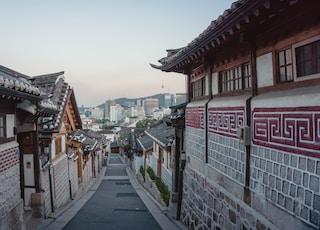 empty street between houses