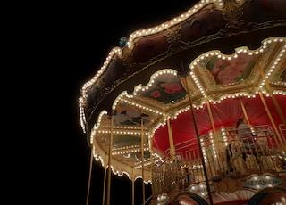 turned on carousel
