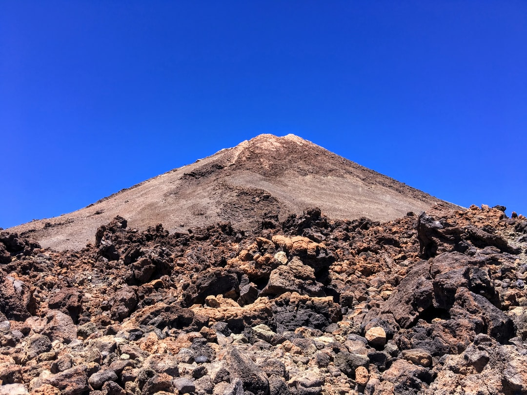 Lava flow (Mount Teide, volcano on Tenerife in the Canary Islands, Spain)
