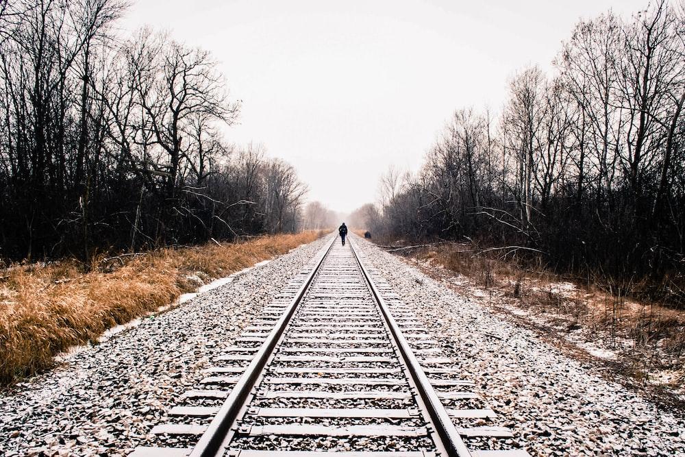 gray train railway during daytime