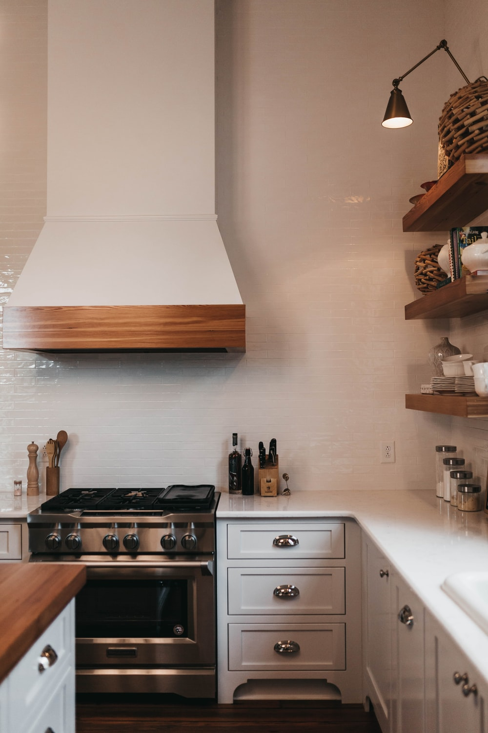 photo of clean kitchen cupboards