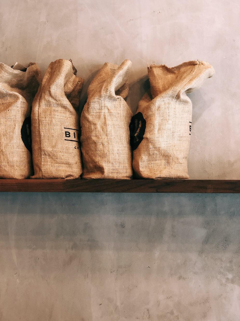 four brown sacks