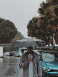 men's gray zip-up hoodie
