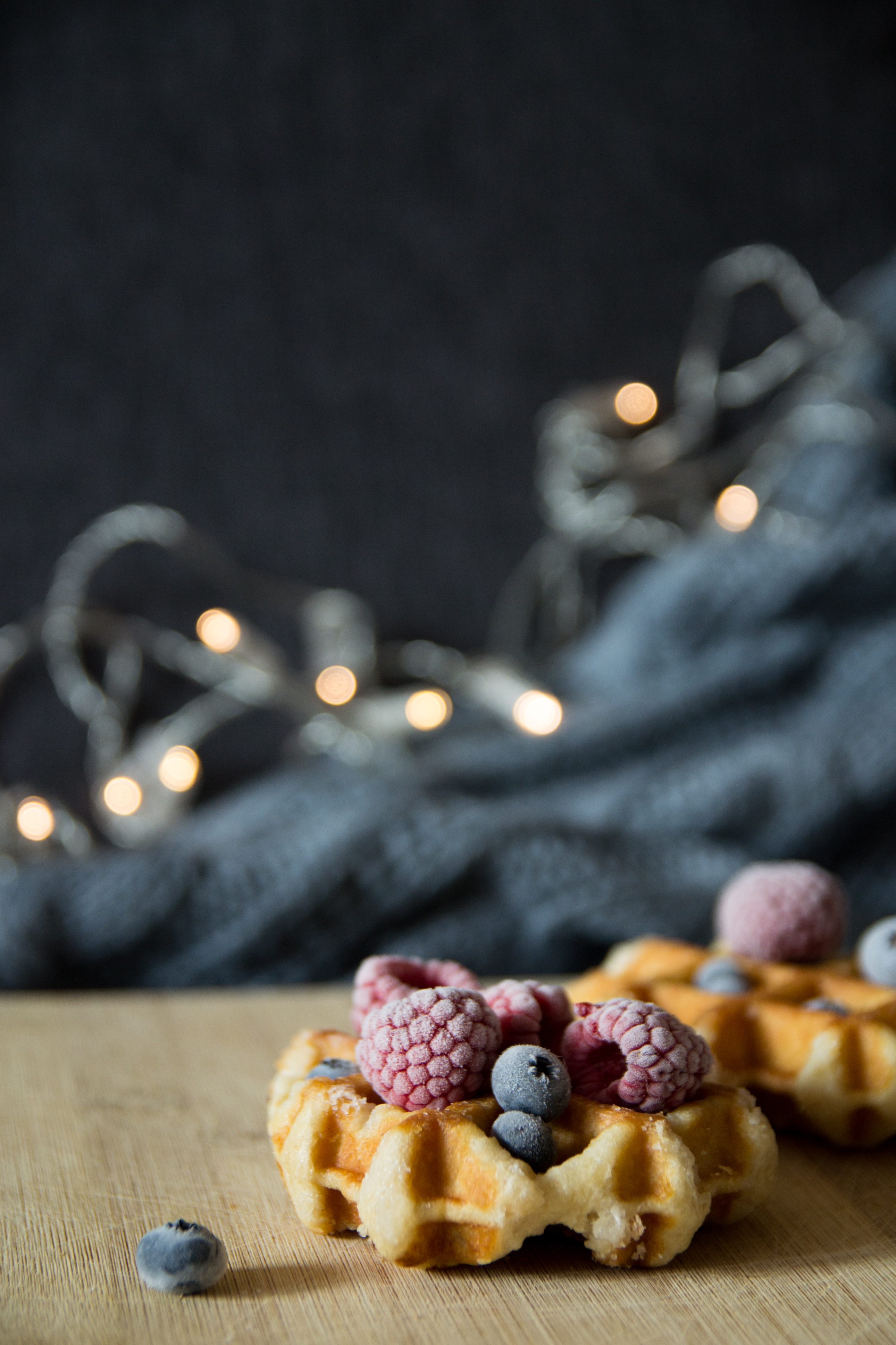 cookies with blueberries and raspberries